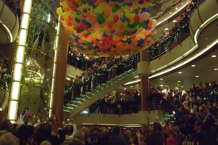 Christmas party inside a cruise ship-somewhere in the Pacific Ocean