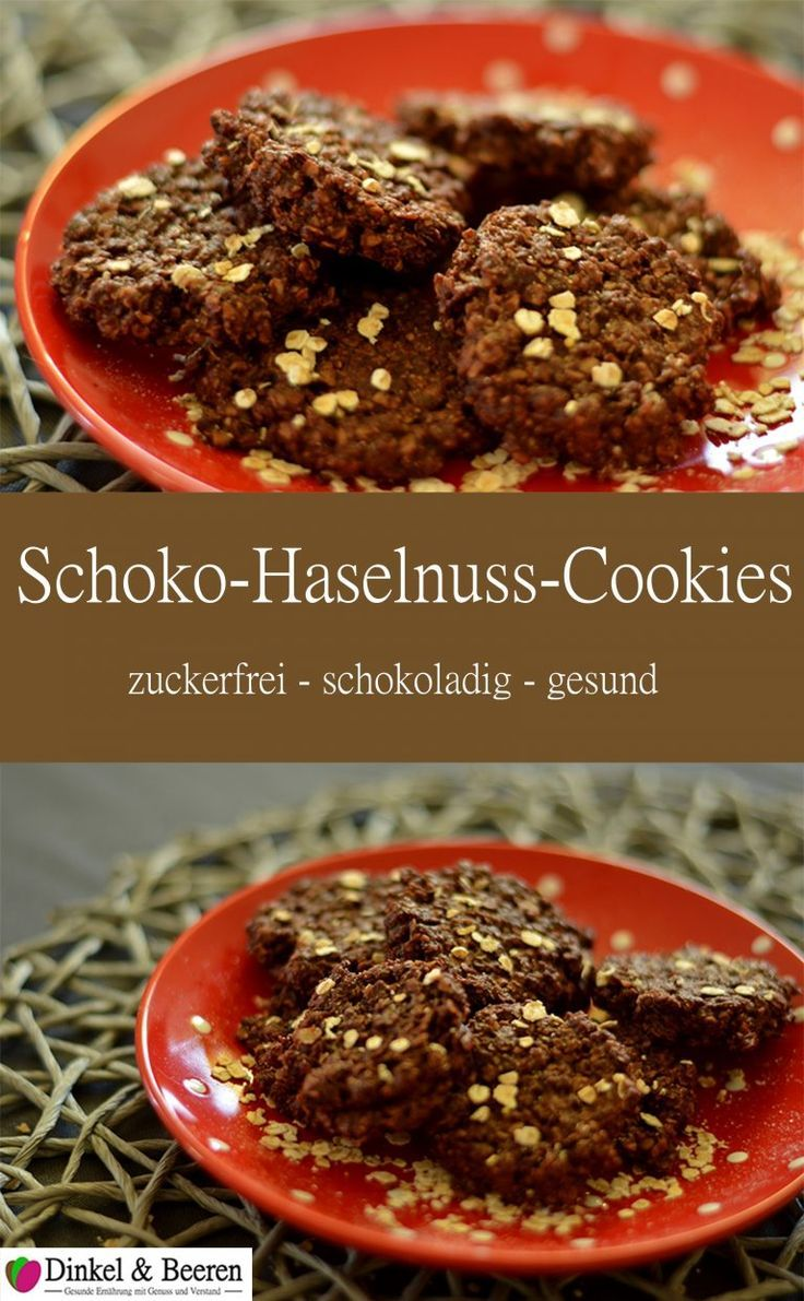 Chocolate Hazelnut Cookies Without Sugar Spelled & berries