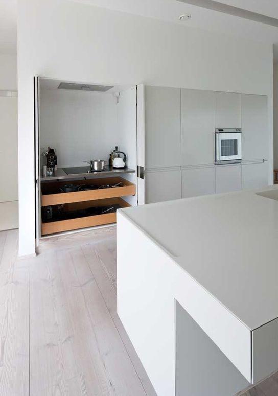 armário escondido   cozinhas   Pinterest   Armario y Casas