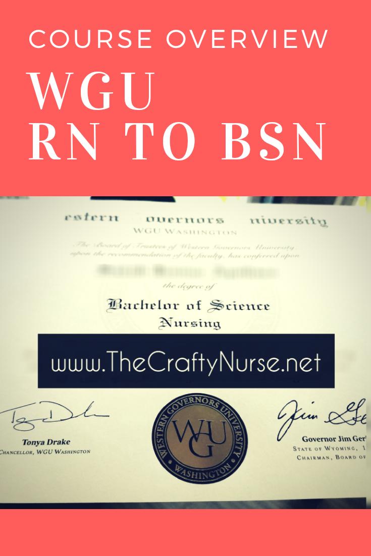 Wgu Rn To Bsn Course Tips Part 1 C475 C820 C784 Rn Bsn Nursing School Prerequisites Bsn Nursing