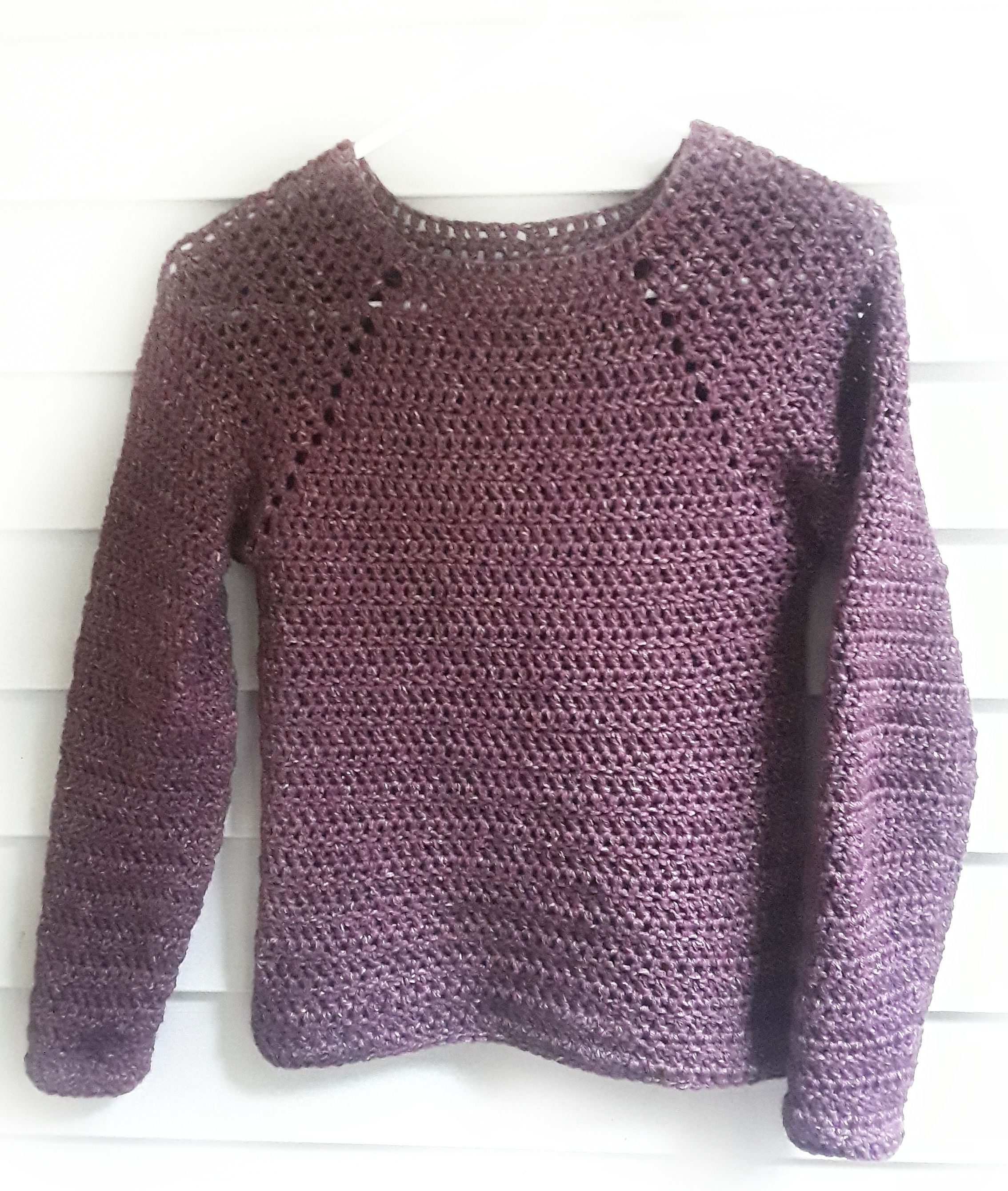 d55dc9fba455 Raglan Sweater Crochet Pattern