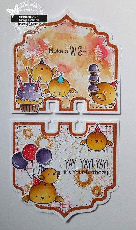 Birthday Altered Rolodex Memorydex Art Card Margadounen With