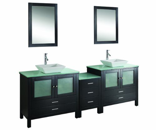 Virtu USA MD-4490-G-ES Brentford 90-Inch Double Sink Bathroom Vanity