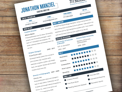 Another Great Resume Setup Custom Resume Template  The Sea