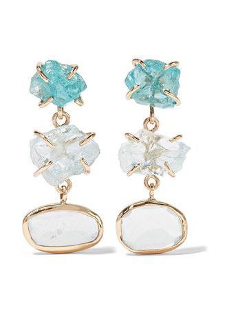 14-karat Gold Earrings - one size Melissa Joy Manning Xp3Ton