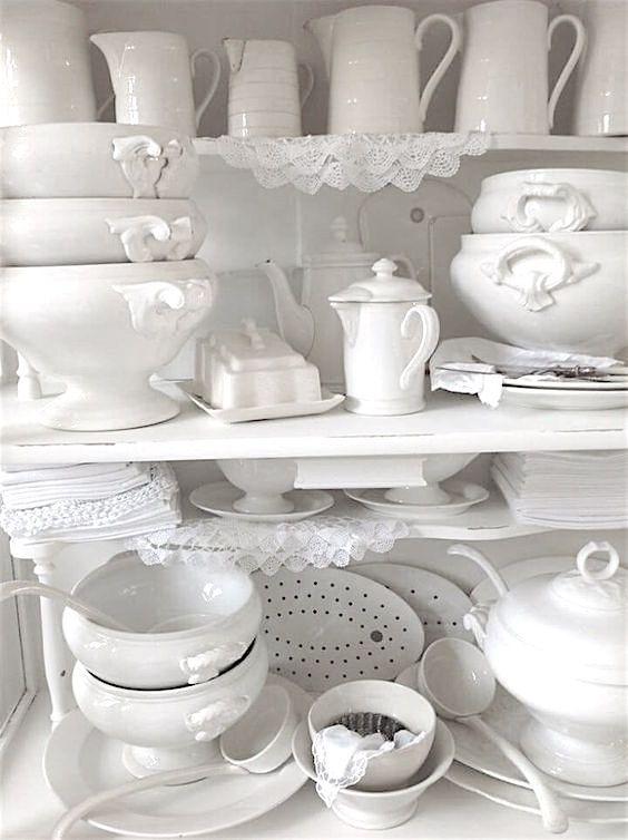 ❄ White dishes