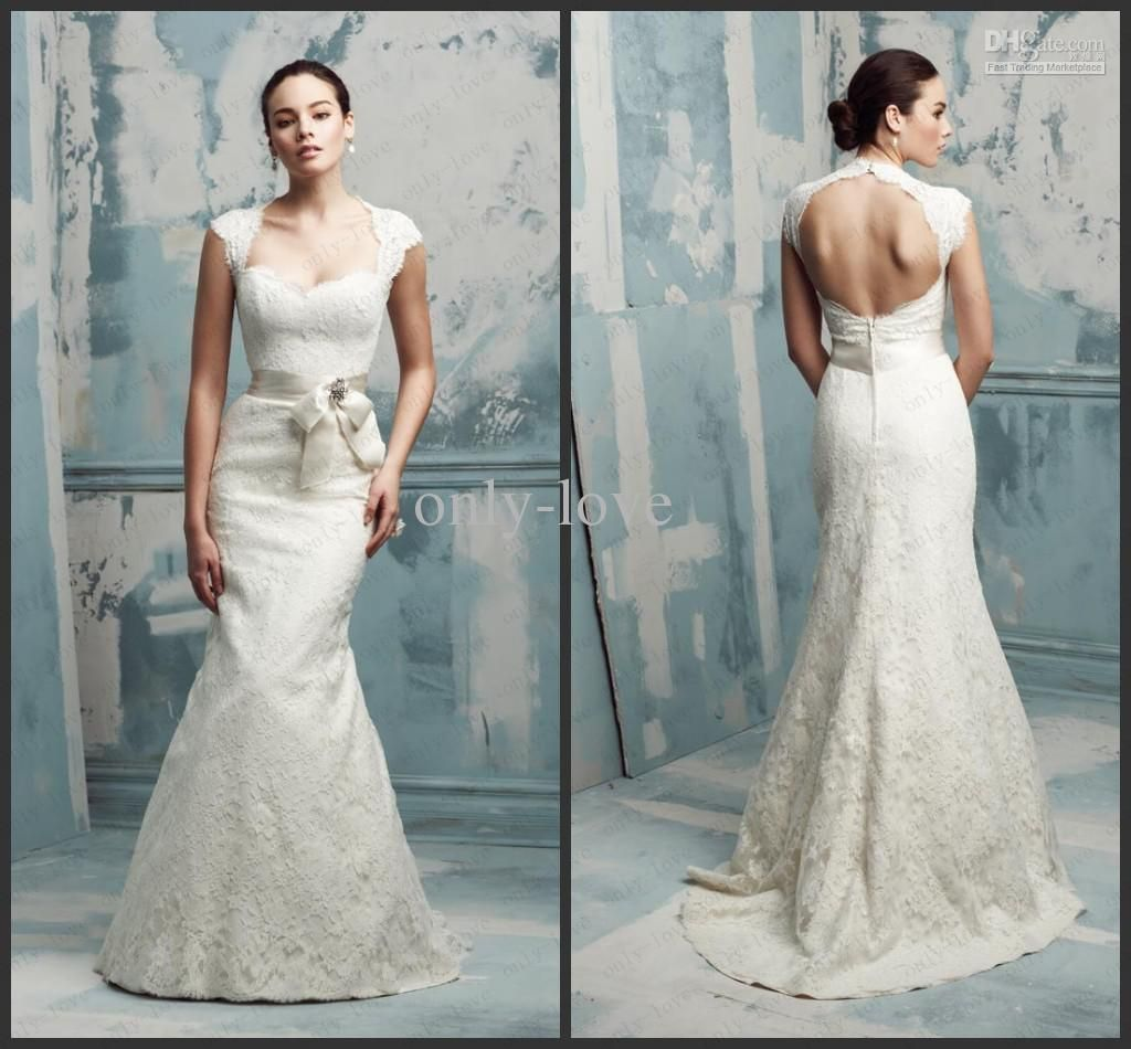 Wholesale Bride Dress - Buy Ivory Mermaid Wedding Dresses Cap ...