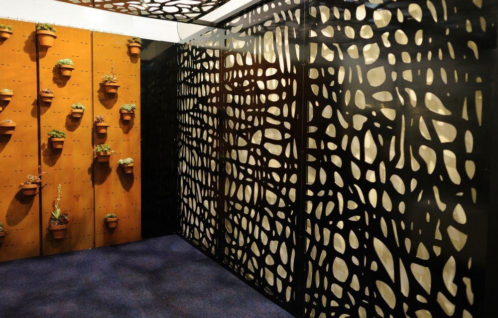 Lasercut metal facade google search house pinterest for Decoration jardin metal