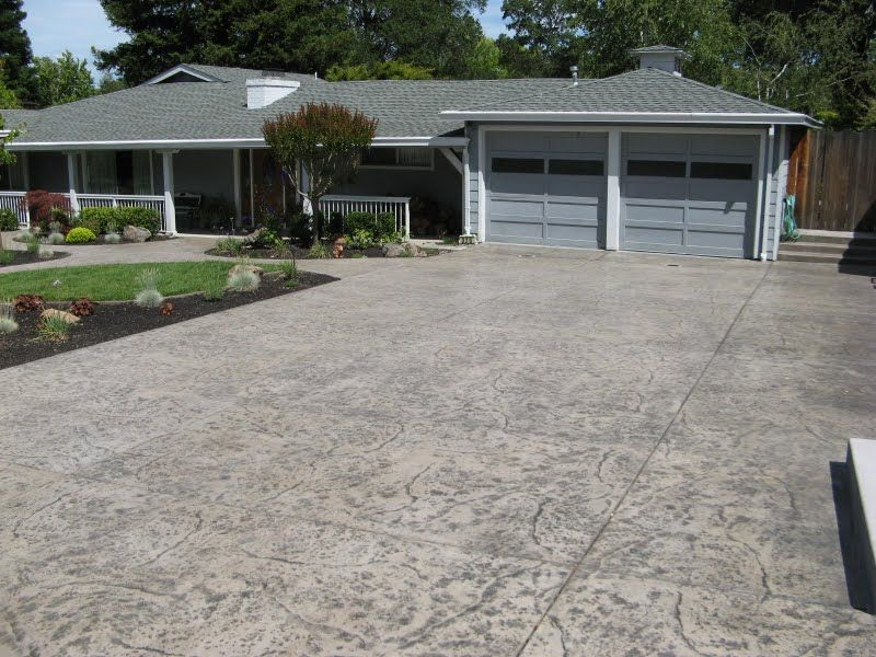 Photos By Application Stamped Concrete Driveway Accent Colors