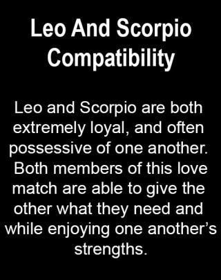 Is scorpio and leo compatible