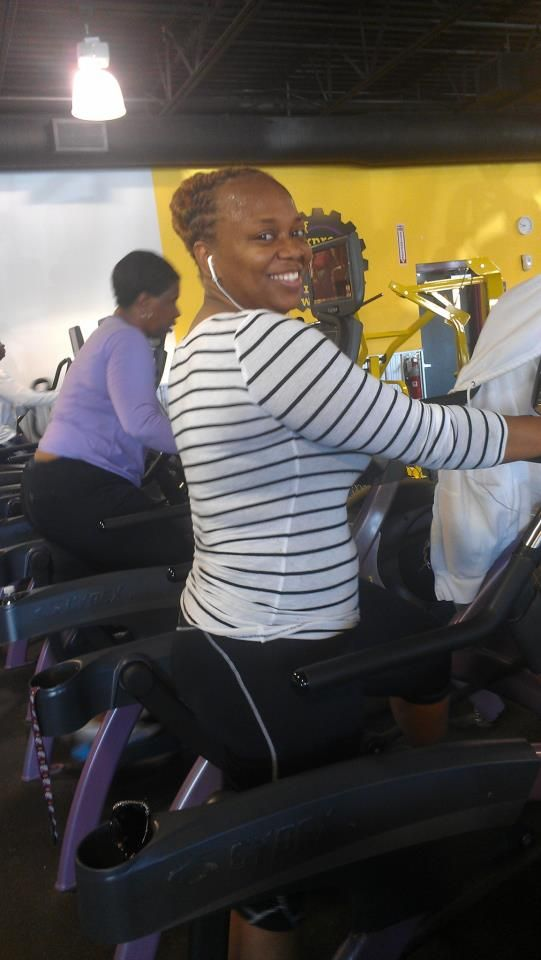 Working it out at Planet Fitness