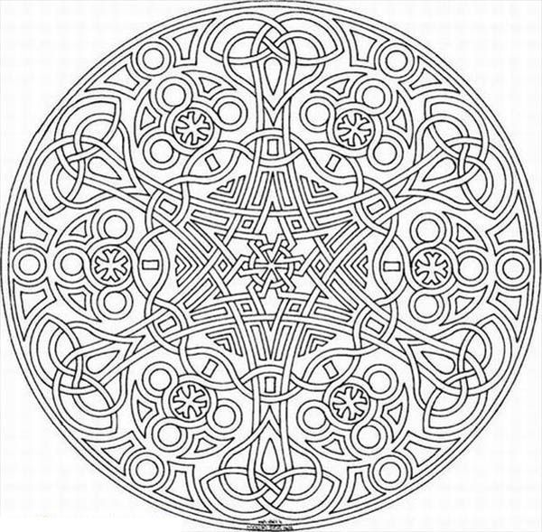 Sacred Geometry Mosaic Coloring Page - Download & Print Online ...