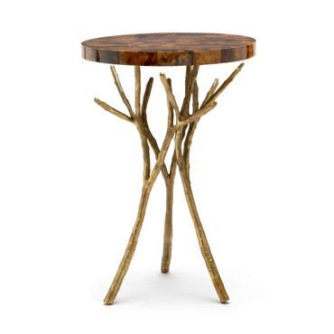 Bramble Branch Side Table Gold Side Table Silver Side Table