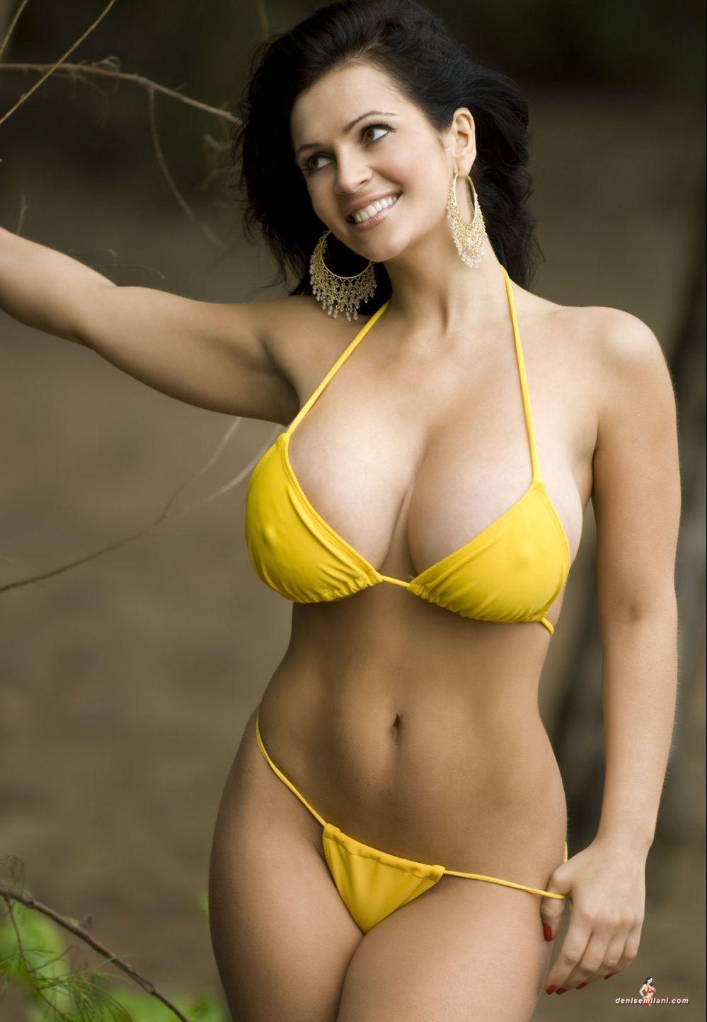 Girls in yellow bikini April