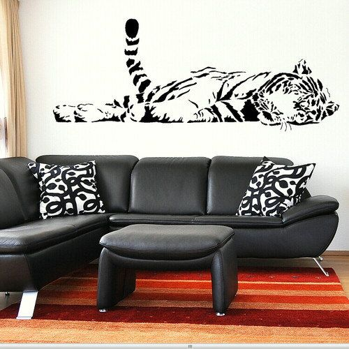 Superb Tiger Large Animal Wall Stickers / Wall Decals / Wall Art Murals Large Big  CA27 On