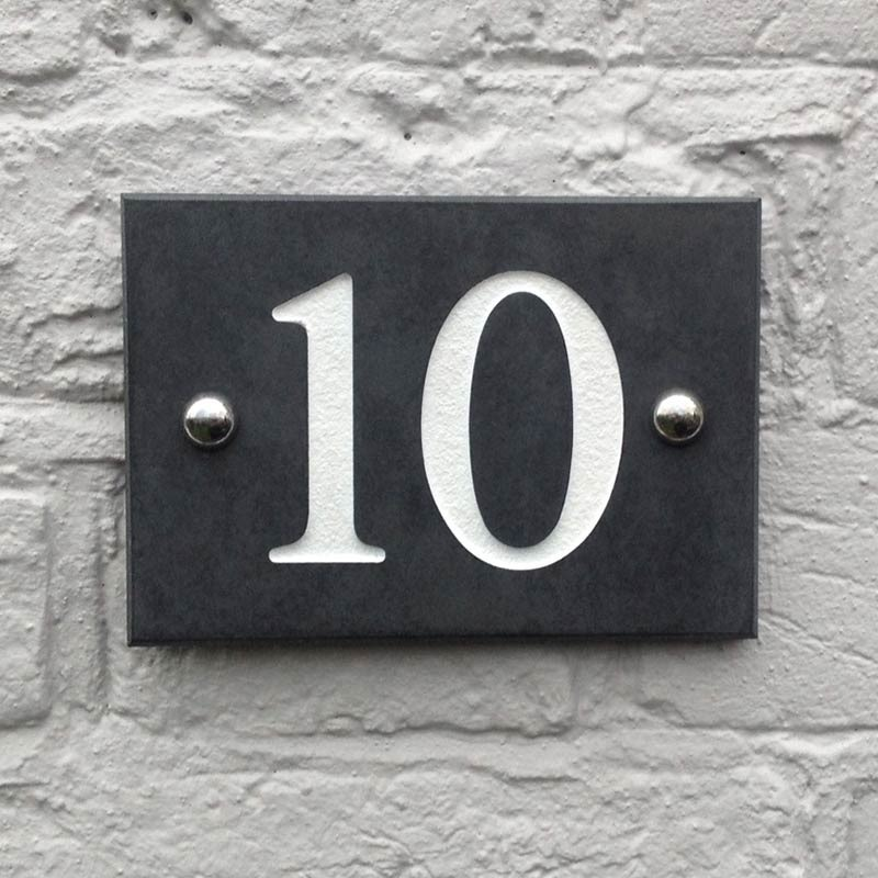 Personalised Smooth Slate House Number Signs I Just Love It