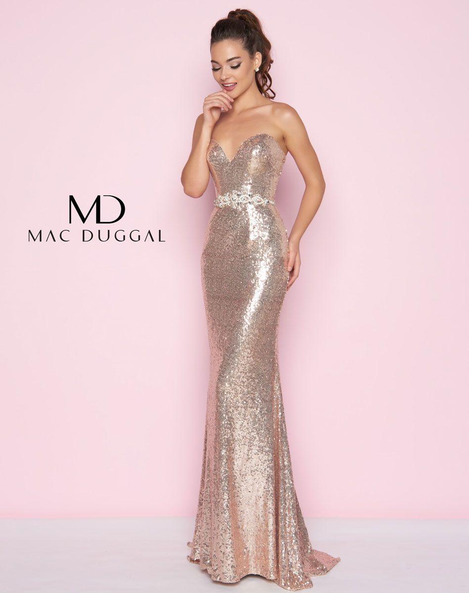 Designer Strapless Stretch Velvet Lace Trim Gown Champagne