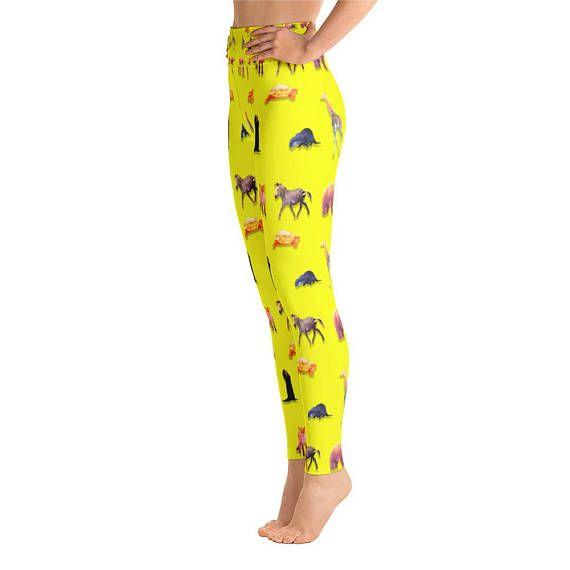 3b930fc2a26a0 Animal Giraffe,Horse,Dinosaur Yoga Leggings,Capri Yoga Pants, Sport Stretch  Leggings, Fitness Workout Yoga Pants Joggers Active,Mommy me