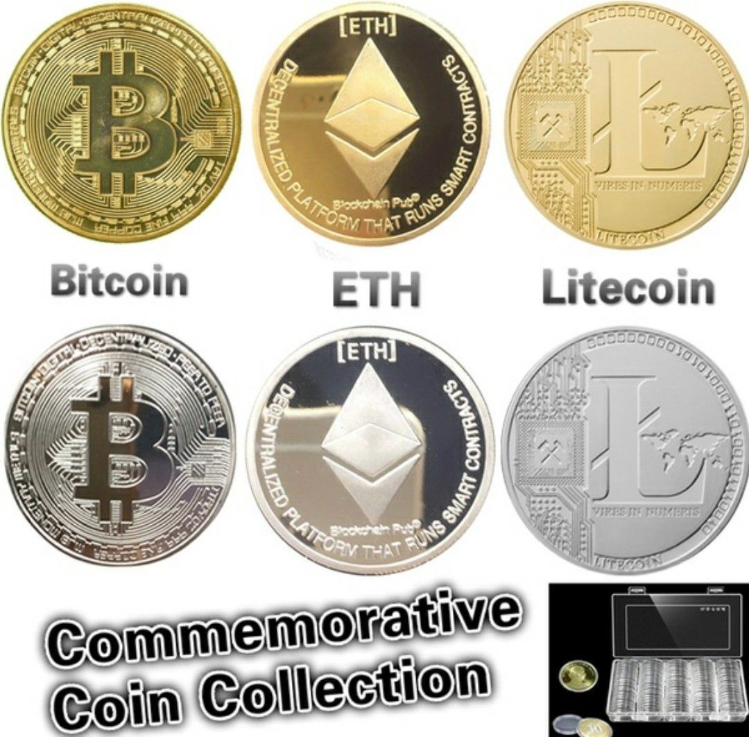 Silver Plated Commemorative Bitcoin Collectible Gift Golden Iron Miner Coin XN18