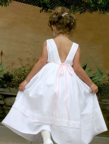 Ribbons cotton girls dress girls dresses a positively charming girls dress composition with white cotton batiste lace and ribbons are an mightylinksfo