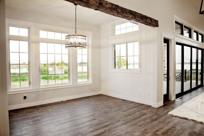 Open concept dining room. Modern rustic style. Farmhouse ...