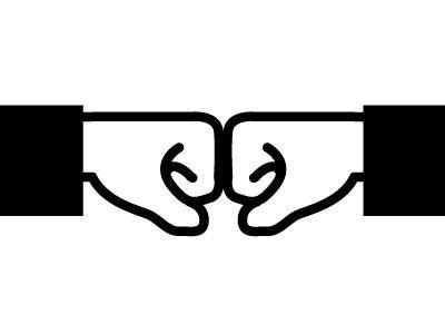 Fist Bump Fist Bump Fist Tattoo Logo Design