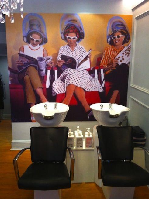 Pin By Cristina Lukacs On Ideas For Bedroom Decor Hair Salon Decor Vintage Hair Salons Hair Salon Design