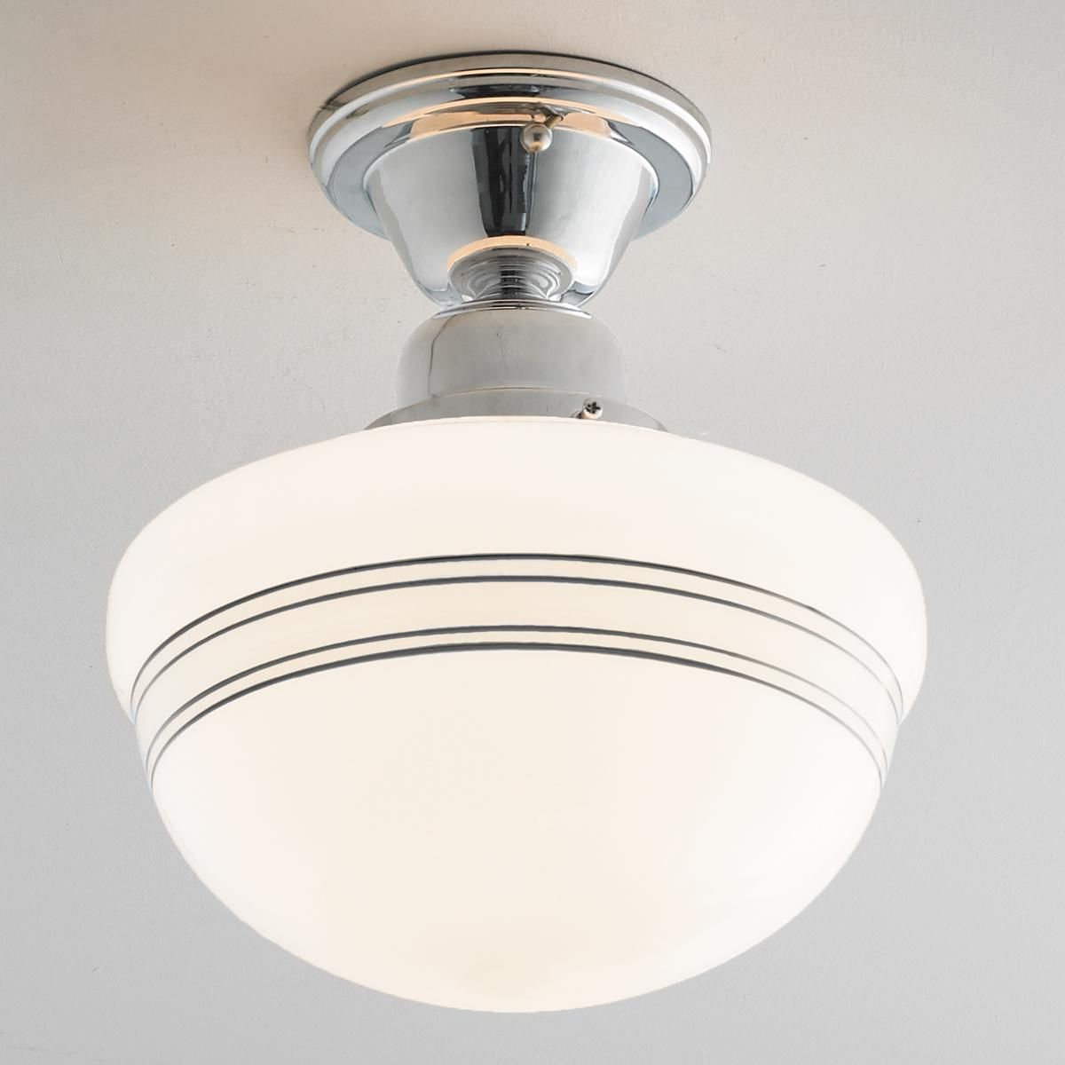 Striped Schoolhouse Ceiling Light In 2020 Ceiling Lights Ceiling Light Shades Cottage Lighting