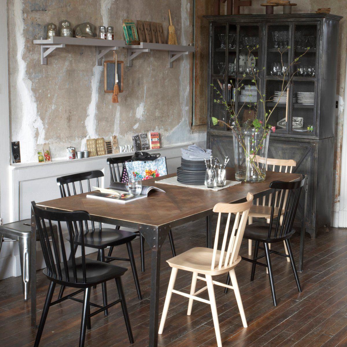 Table Bois Et Metal Sofia Am Pm Salle A Manger Style Industriel