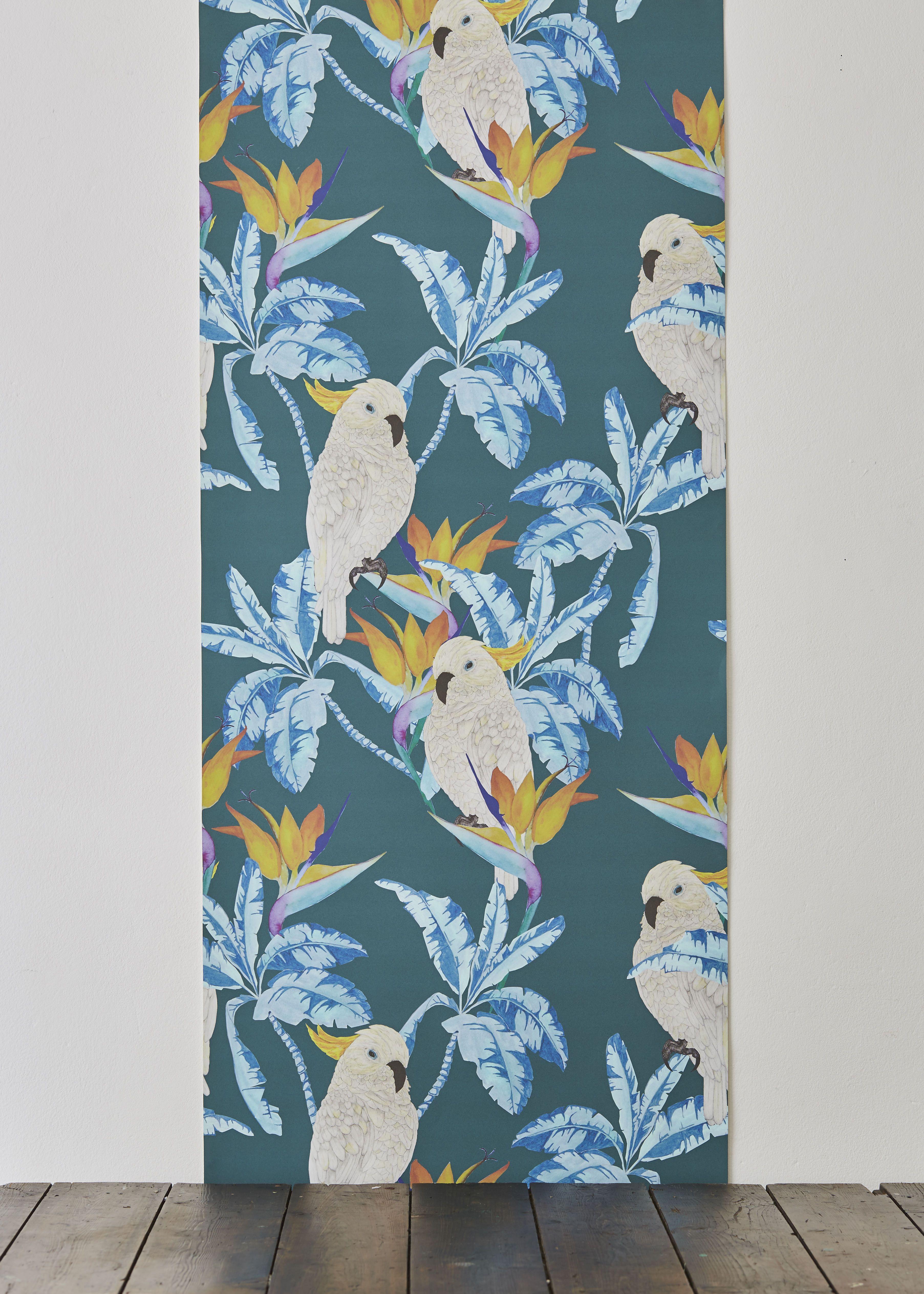 'Birds in Paradise' wallpaper designed by Alicia De Costa