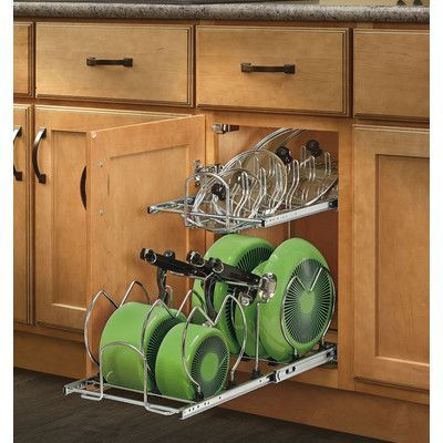 2 Tier Pull Out Kitchenware Divider Pull Out Kitchen Cabinet Cookware Organization Kitchen Cabinet Organization