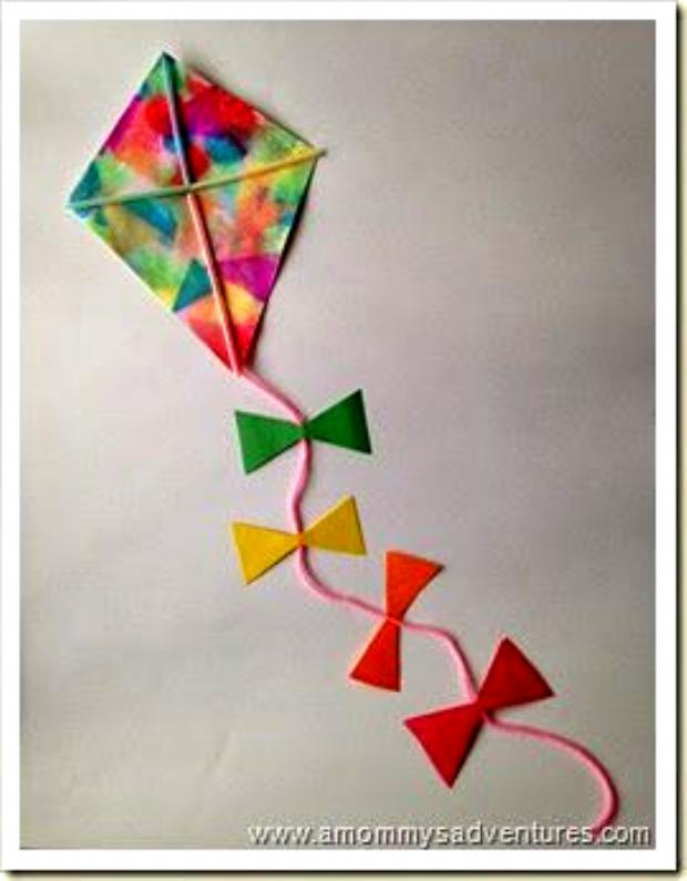 A Mommys Adventures Kite Craft in 2020 Kites craft, Diy