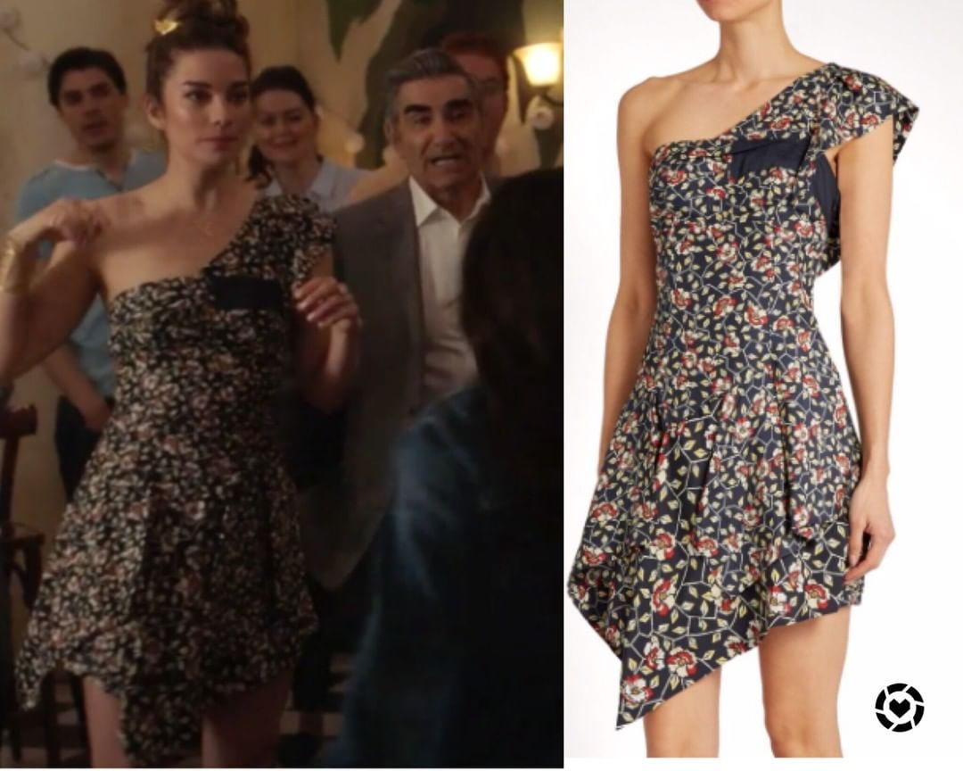 Alexis roses floral one shoulder dress httpswww
