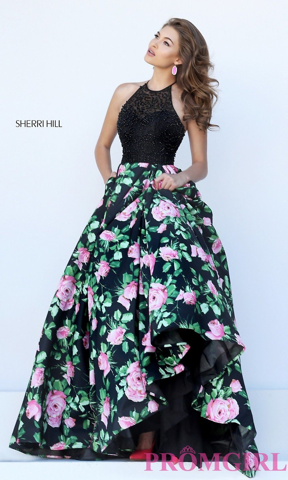 Prom dresses celebrity dresses sexy evening gowns high neck ball