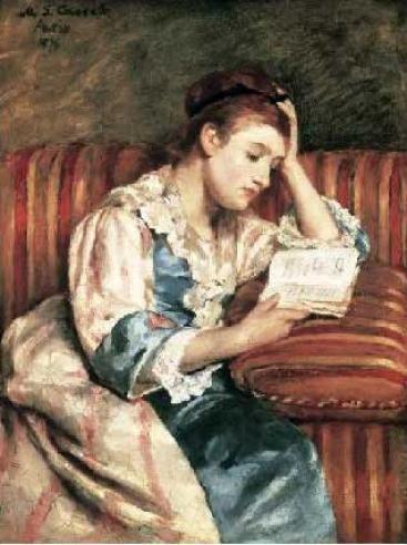 Young Woman Reading  Type : POSTER  Artist : Mary Cassatt
