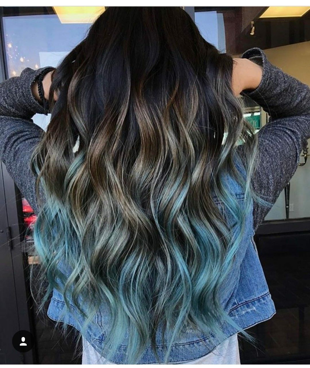 This Is Bad A Hair Color Blue Blue Ombre Hair Dark