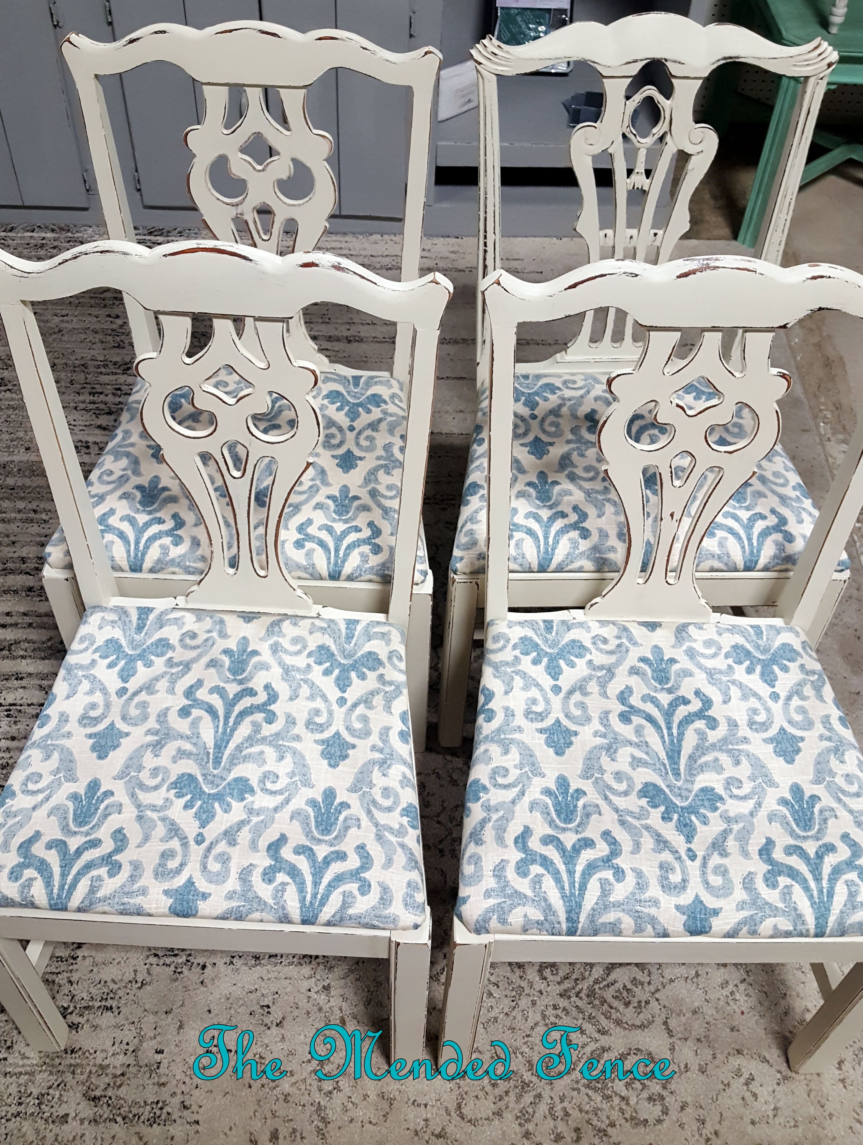Chippendale Style Chairs Updated In Fusion Mineral Paint Champlain