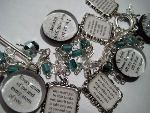 """My utterly perfect """"His Dark Materials"""" bracelet for our wedding."""