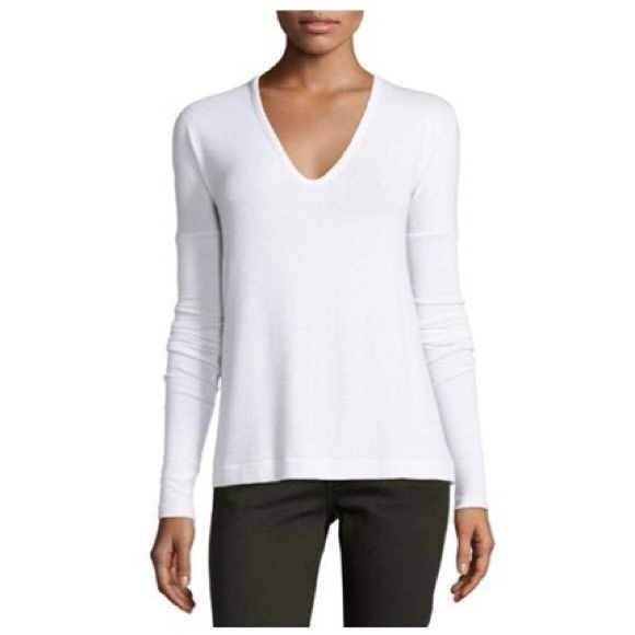 theo long sleeve v-neck tee > rag & bone see photo four for the description from rag and bone- super soft and comfy long sleeve shirt- perfect for the remaining winter months and transition to spring!- excellent condition- happy to provide measurements upon request- no trades please rag & bone Tops
