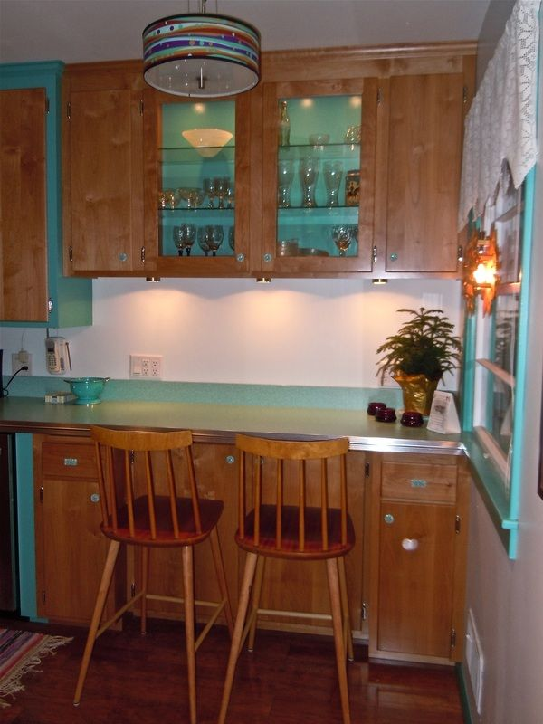 Cabinets Added To Existing 1950 S Kitchen During Retro