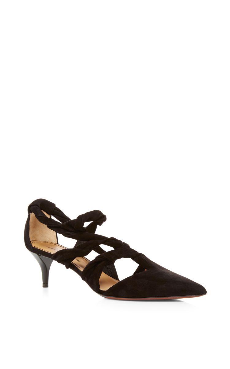 PROENZA SCHOULER Knotted Pointed Toe Kitten Heels. #proenzaschouler #shoes #heels