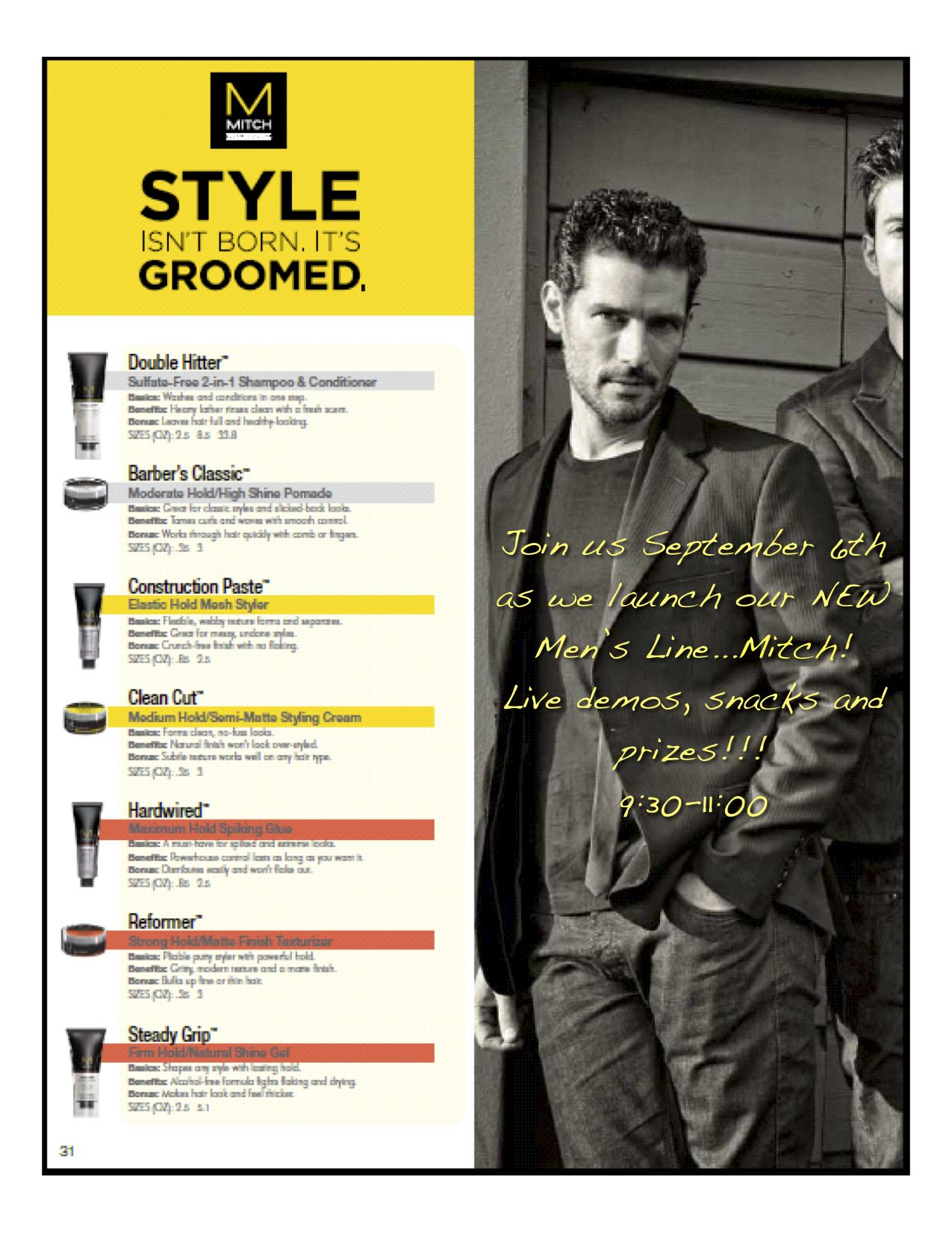 Mitch By Paul Mitchell Styling Products