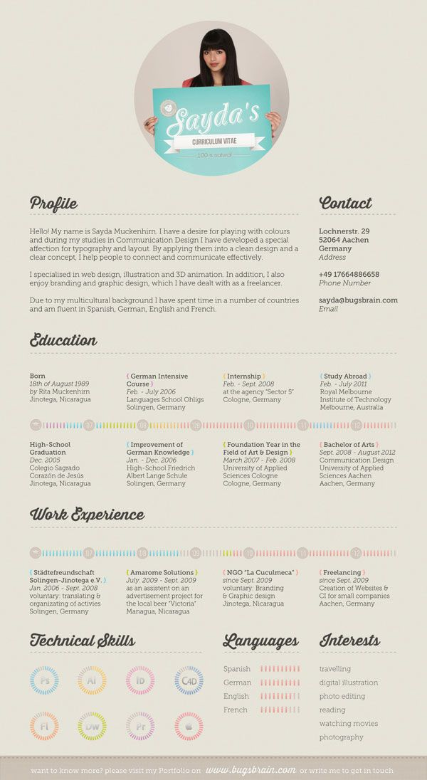 cool site keri Sayda Simple Resume Design 10 Interesting & Simple ...