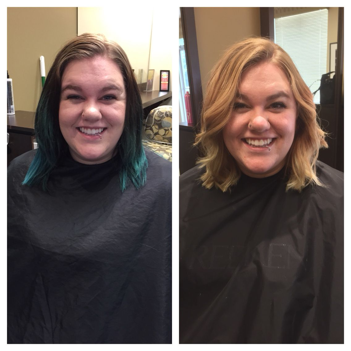 HUGE transformation, going back natural isn't easy #hairbykarleeann #ellemarie #ellemariekarlee #ellemarielakestevens #balayage #colorcorrection #goingbacknatural