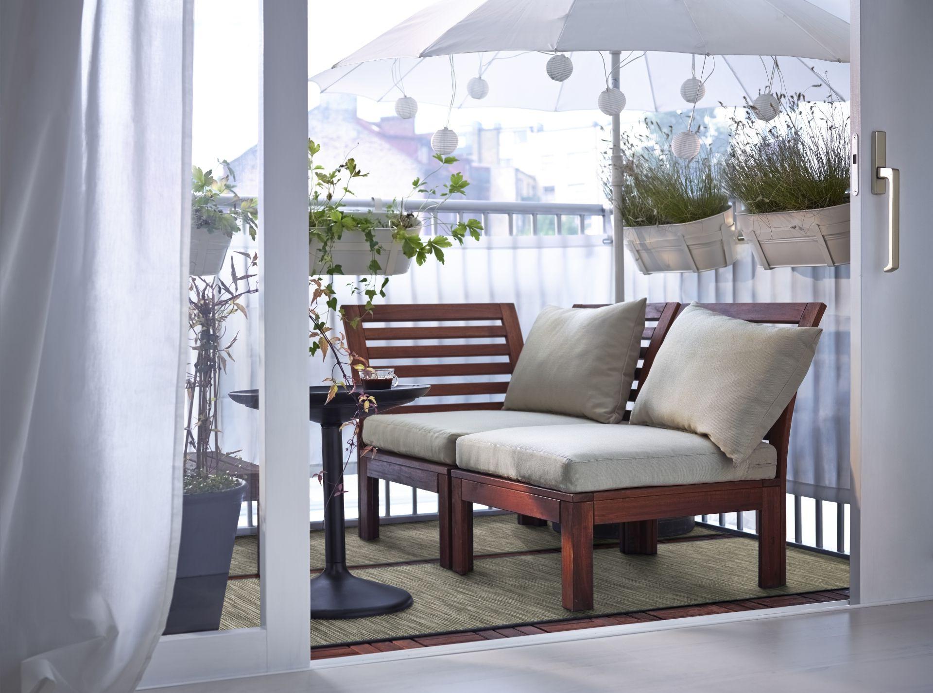 Ikea Balkon Bank.äpplarö Hoekelement Buiten Bruin Bruin Gelazuurd Greens