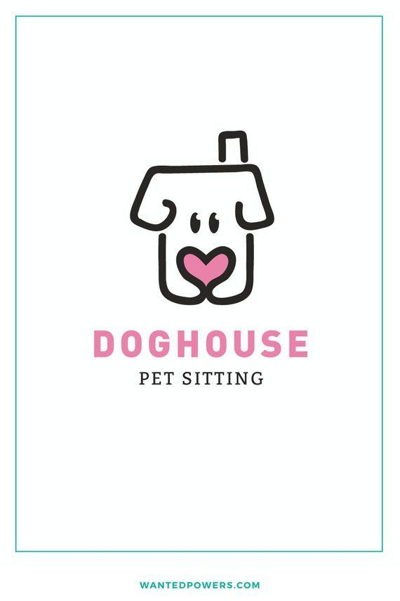 Dog House Heart Logo Custom Pre Made Logo Design Pet Logo