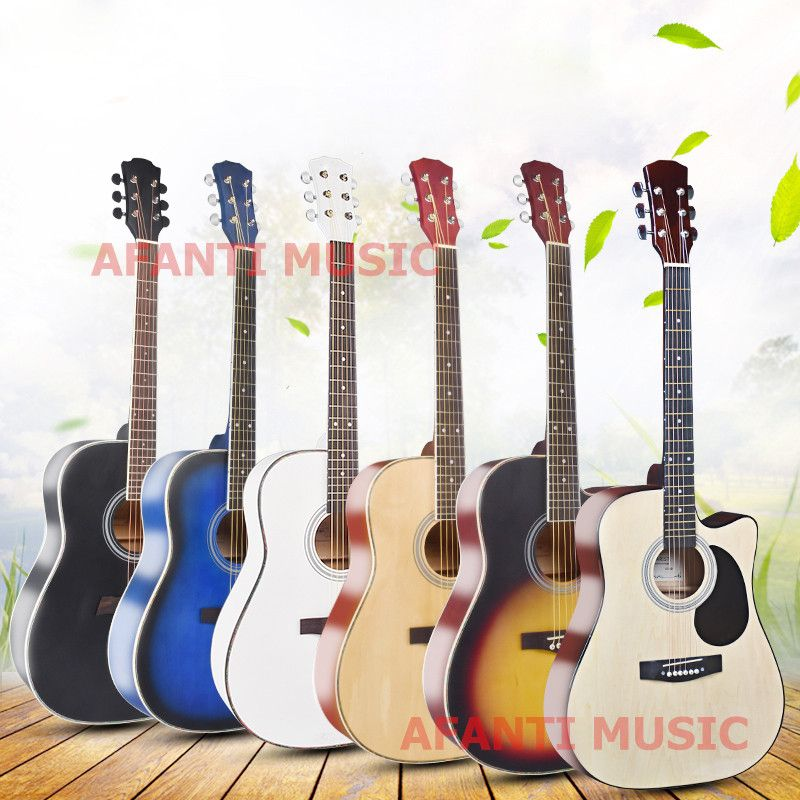 41 Inch Burlywood Color Acoustic Guitar Of Afanti Music Aal 1477 Musical Instruments Acoustic Guitar Guitar
