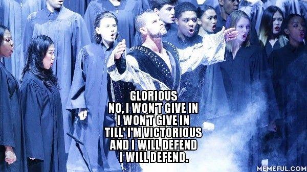 Glorioso No, no va a ceder no voy a ceder Hasta 'Estoy victorioso y defenderé voy a defender.