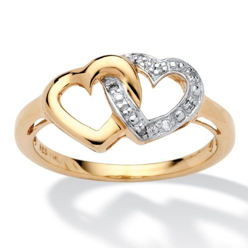 ring engagement gold beach palm jewelry cubic rings zirconia walmart wedding com tutone plated