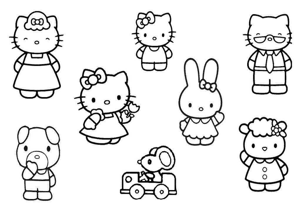 Printable Hello Kitty Coloring Page For Kids Http Www Khanumart Com Printable Hello Kitty Coloring Page For Kids Girlscoloring Buku Mewarnai Warna Buku